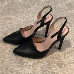 Lost Ink Black Heels